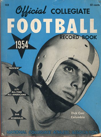 Image for Official Collegiate Football Record Book 1954