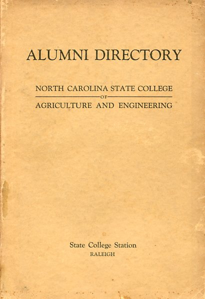 Image for Alumni Directory North Carolina State College of Agriculture and Engineering