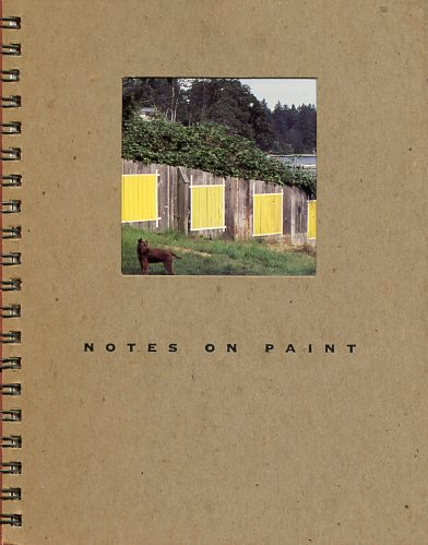 Image for Notes on Paint