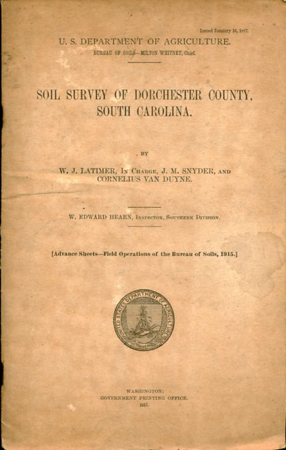 Image for Soil Survey of Dorchester County, South Carolina