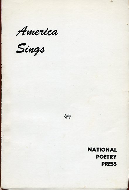 Image for America Sings: 1968 Spring Anthology of College Poetry
