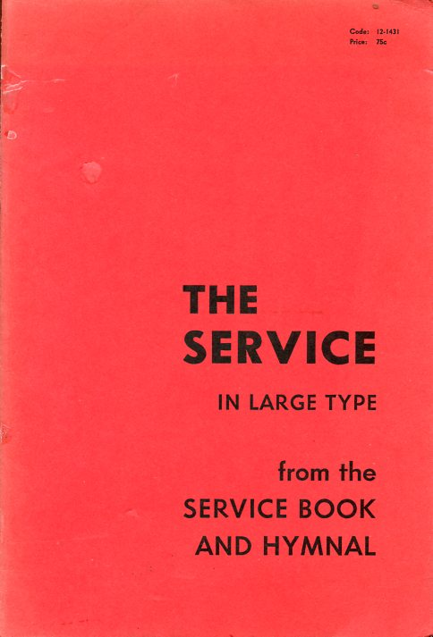 Image for The Service in Large Type (from the Service Book and Hymnal)