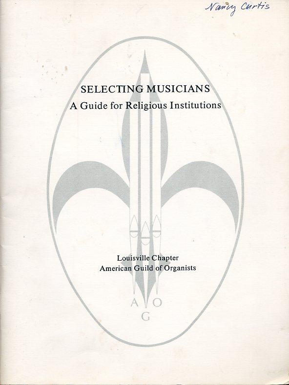 Image for Selecting Musicians: A Guide for Religious Institutions