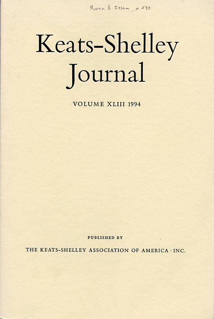 Image for Keats-Shelley Journal: Keats, Shelley, Byron, Hunt, and Their Circles, Volume XLIII 1994