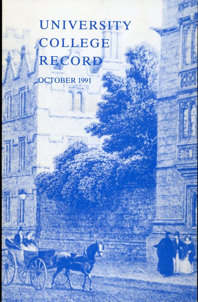 Image for University College Record, October 1991