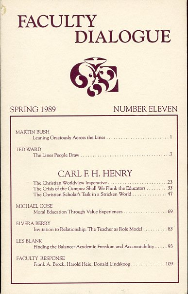 Image for Faculty Dialogue (Spring 1989, Number 11)