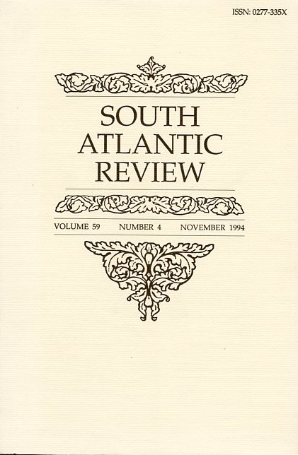 Image for South Atlantic Review - November 1994, Volume 59, Number 4