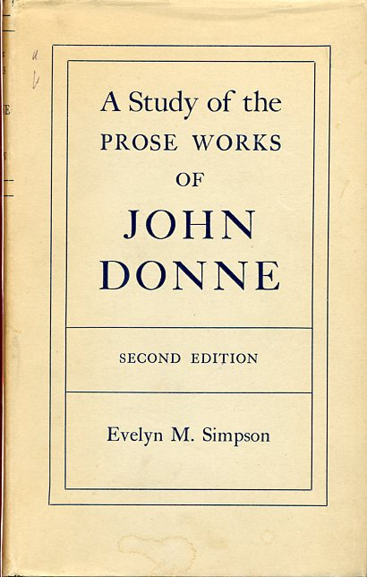 Image for A Study of the Prose Works of John Donne