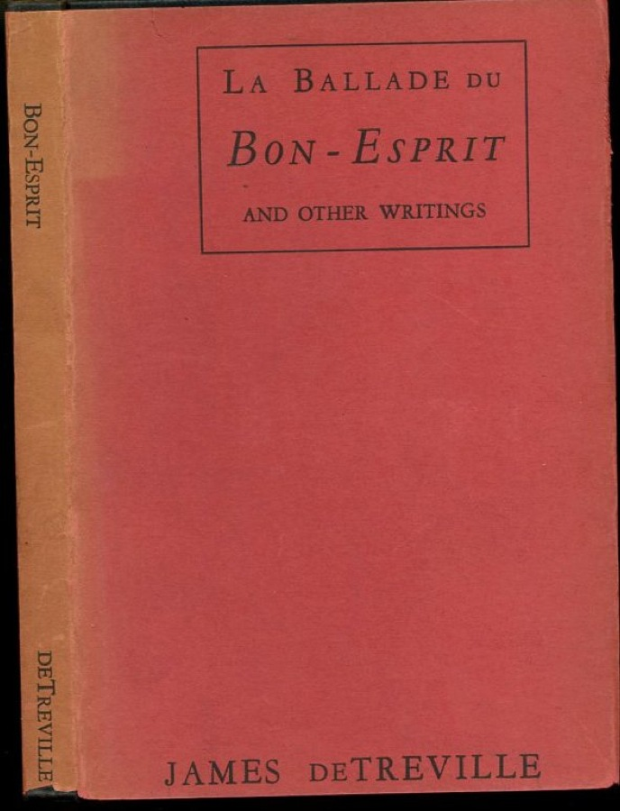 Image for La Ballade du Bon-Esprit and Other Writings (First Edition)