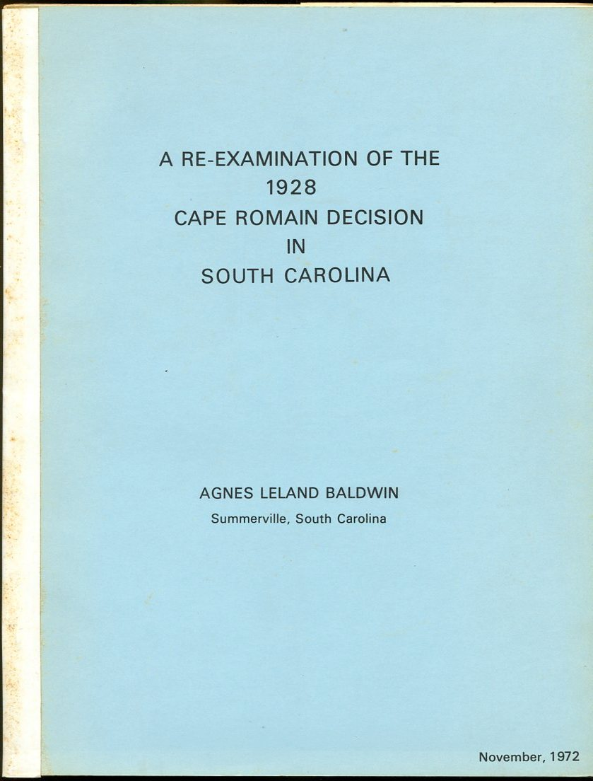 Image for A Re-Examination of the 1928 Cape Romain Decision in South Carolina