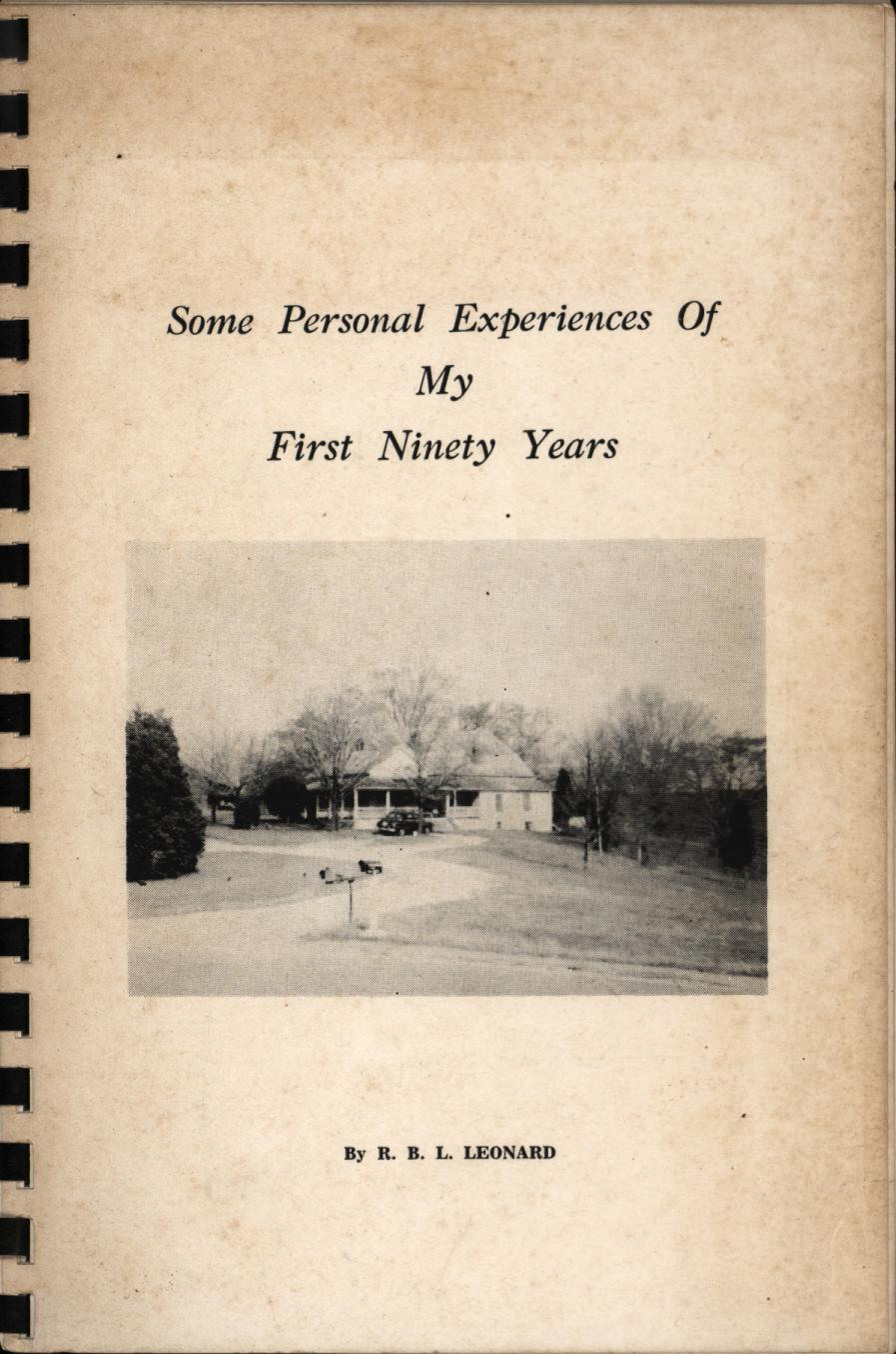 Image for Some Personal Experiences of My First Ninety Years (Signed First Edition)