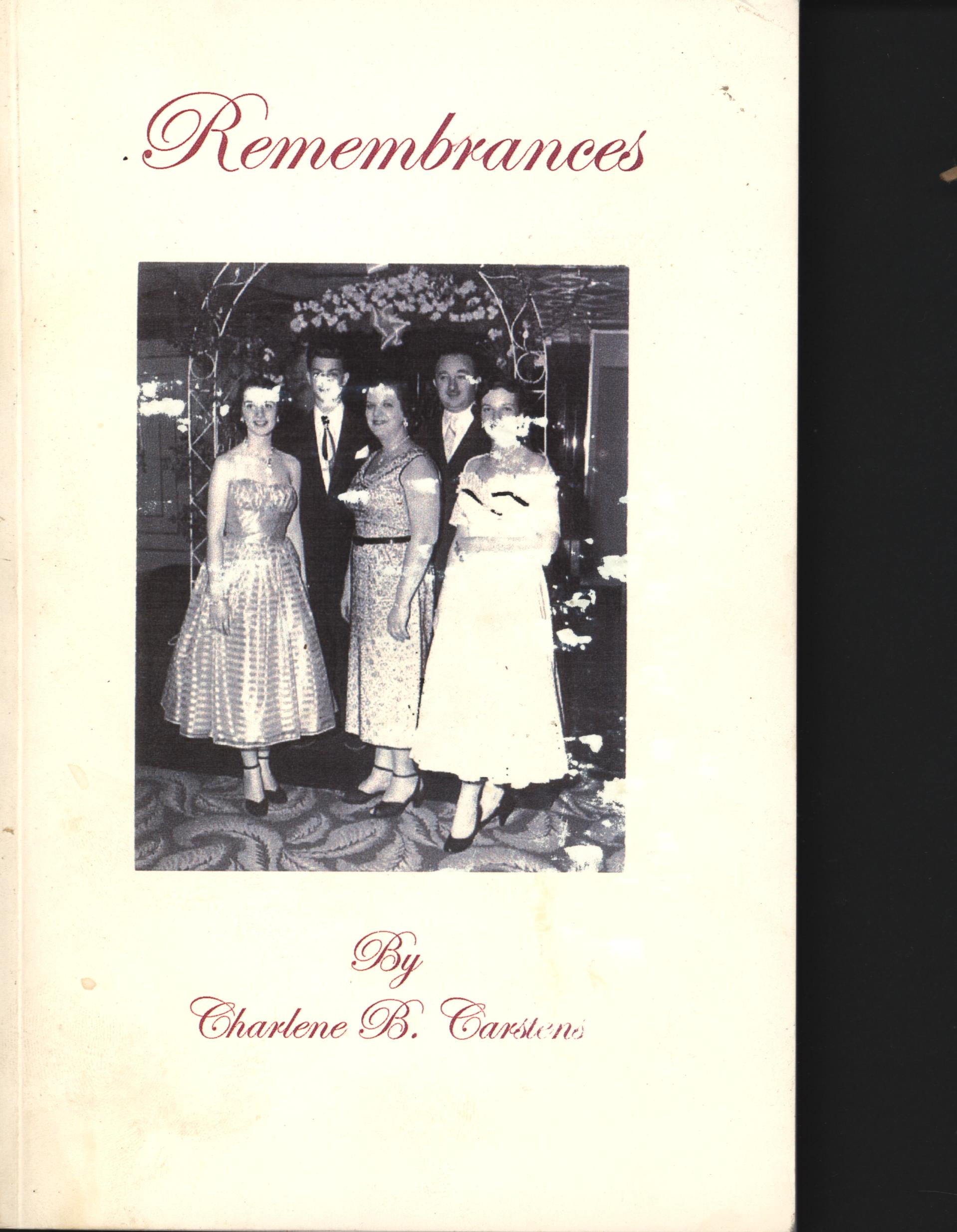 Image for Remembrances: Growing Up in Hollywood Park: The Gross/Dunner Family (First Edition)