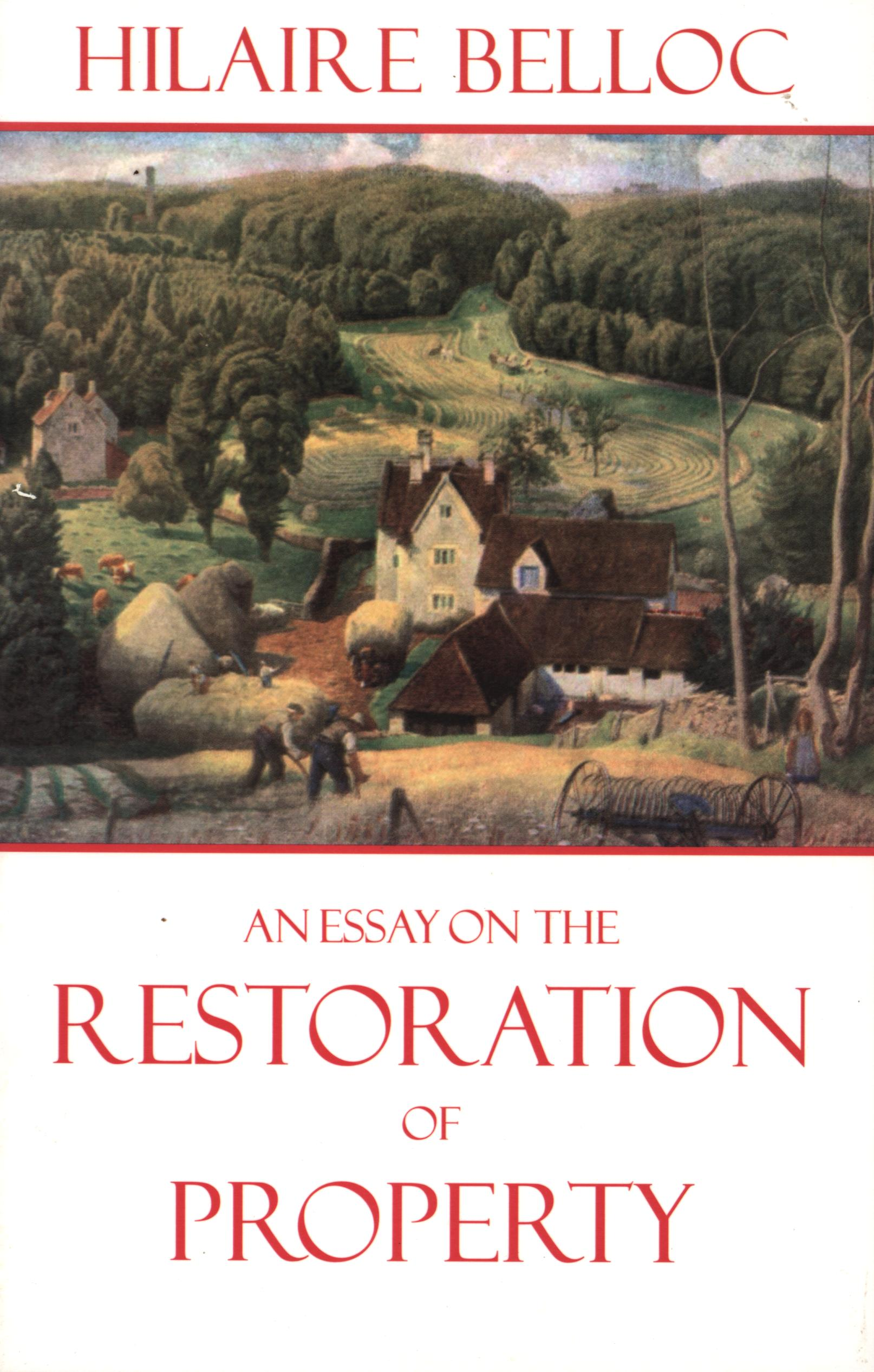 Image for An Essay on the Restoration of Property