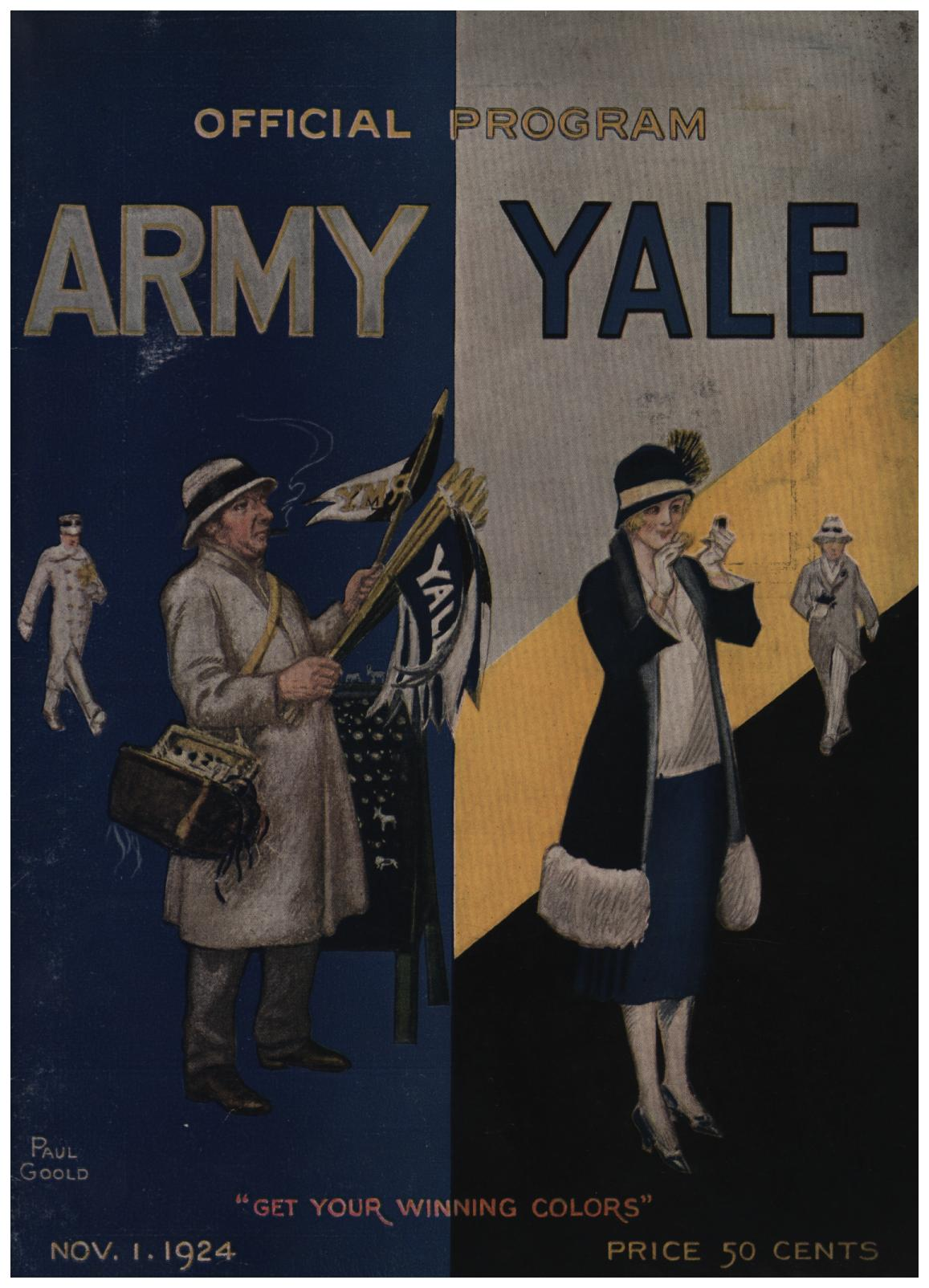 Image for Official Souvenir Program of the Army-Yale Football Game: Yale Bowl, Saturday, November 1, 1924 (First Edition)