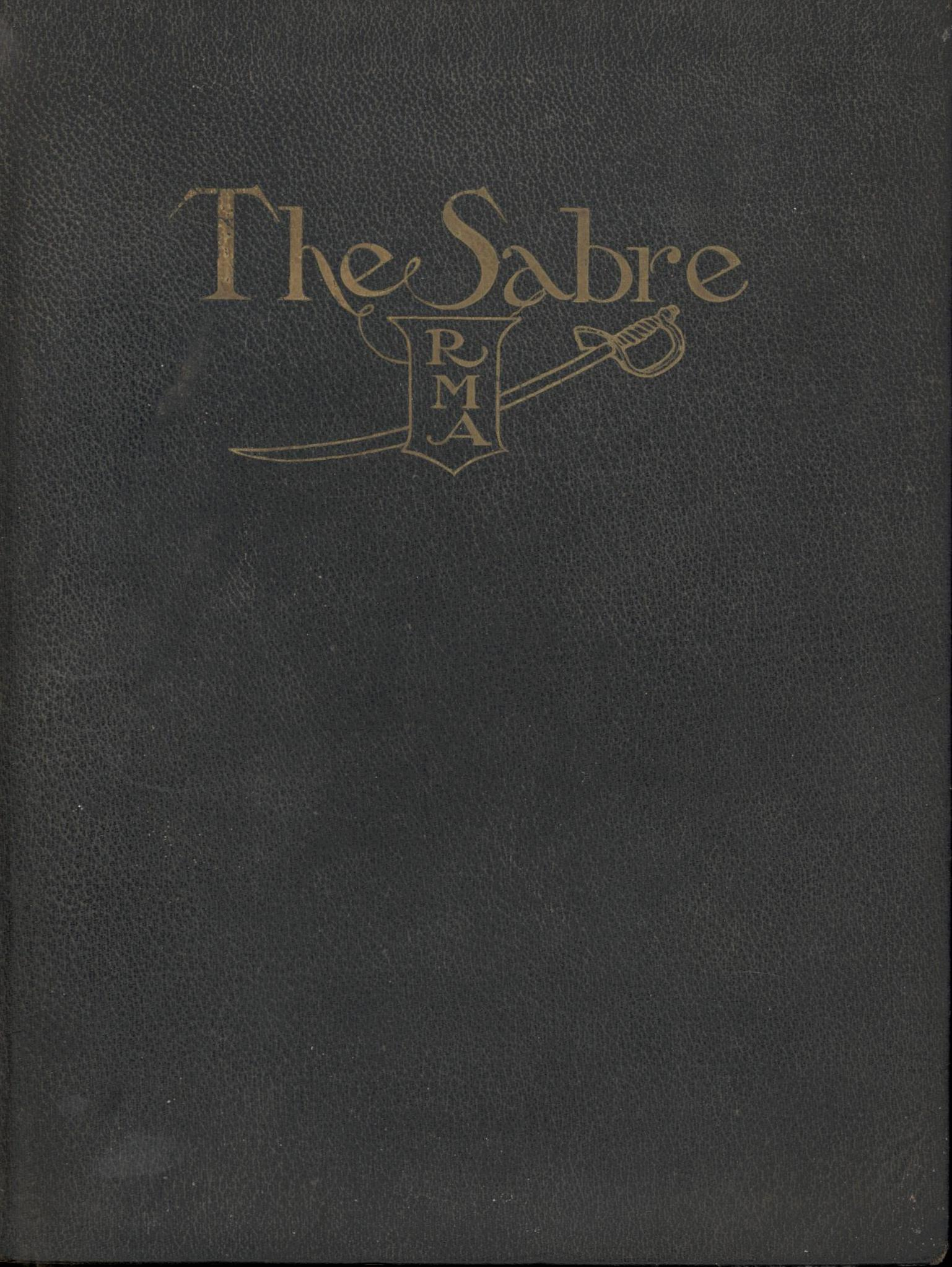 Image for The Sabre: Randolph-Macon Academy, Bedford, VA  (First Edition)