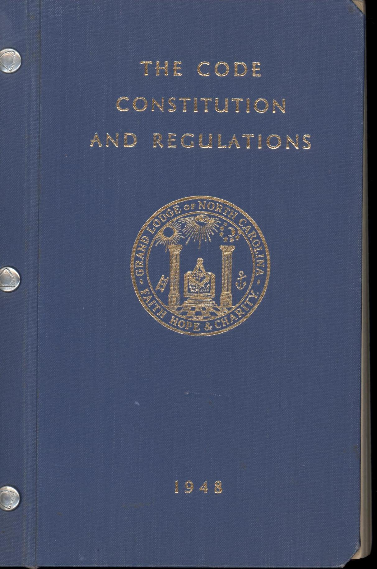 Image for The Code Constitution and Regulations 1948 (First Edition)