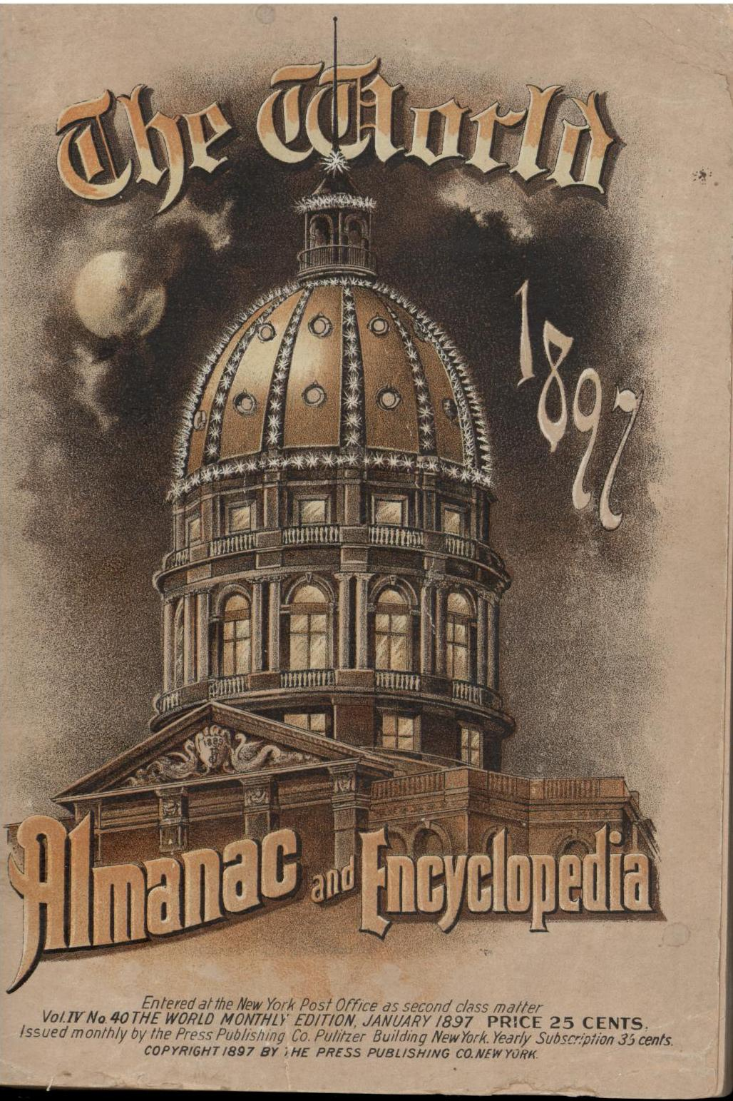 Image for The 1897 World Almanac and Encyclopedia (First Edition)