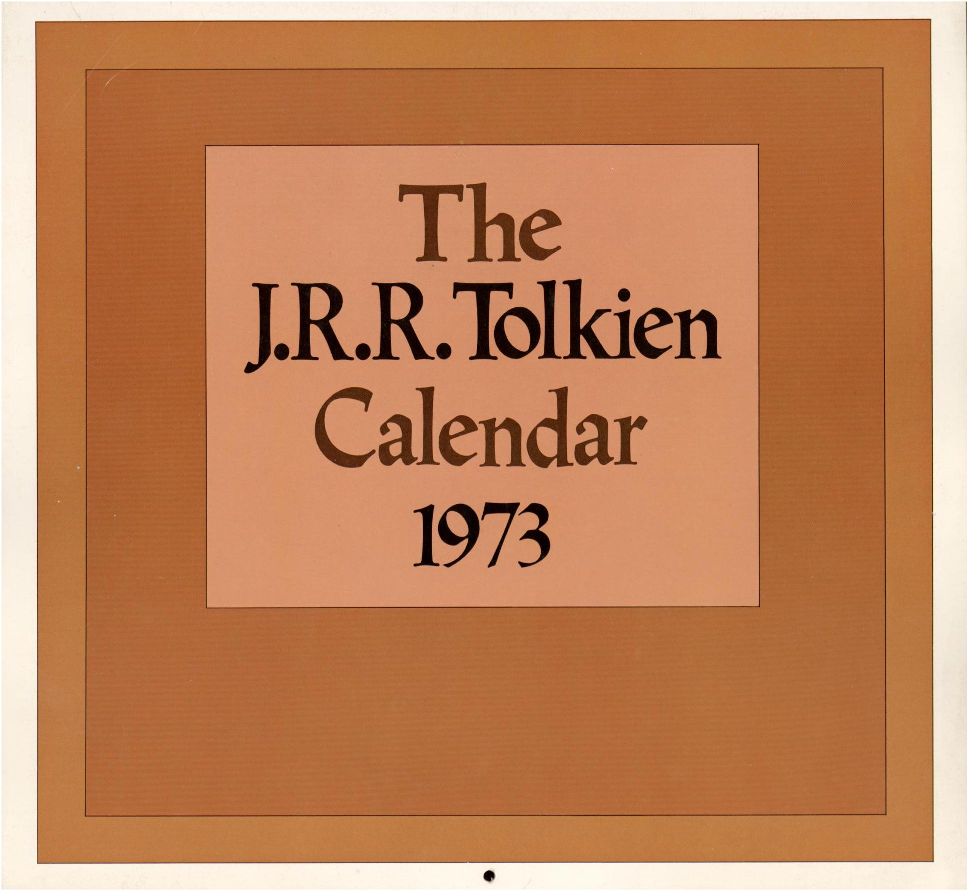 Image for 1973 J. R. R. TOLKIEN CALENDAR (First Printing)