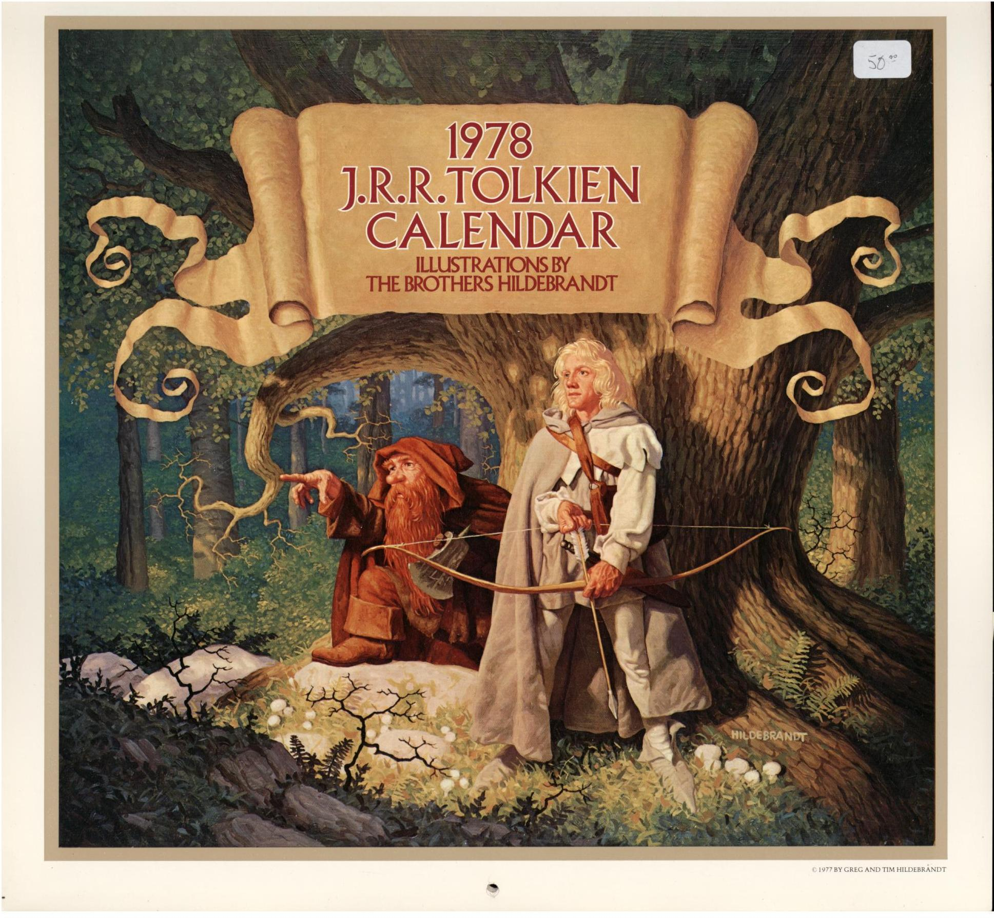 Image for 1978 J. R. R. TOLKIEN CALENDAR (First Edition)