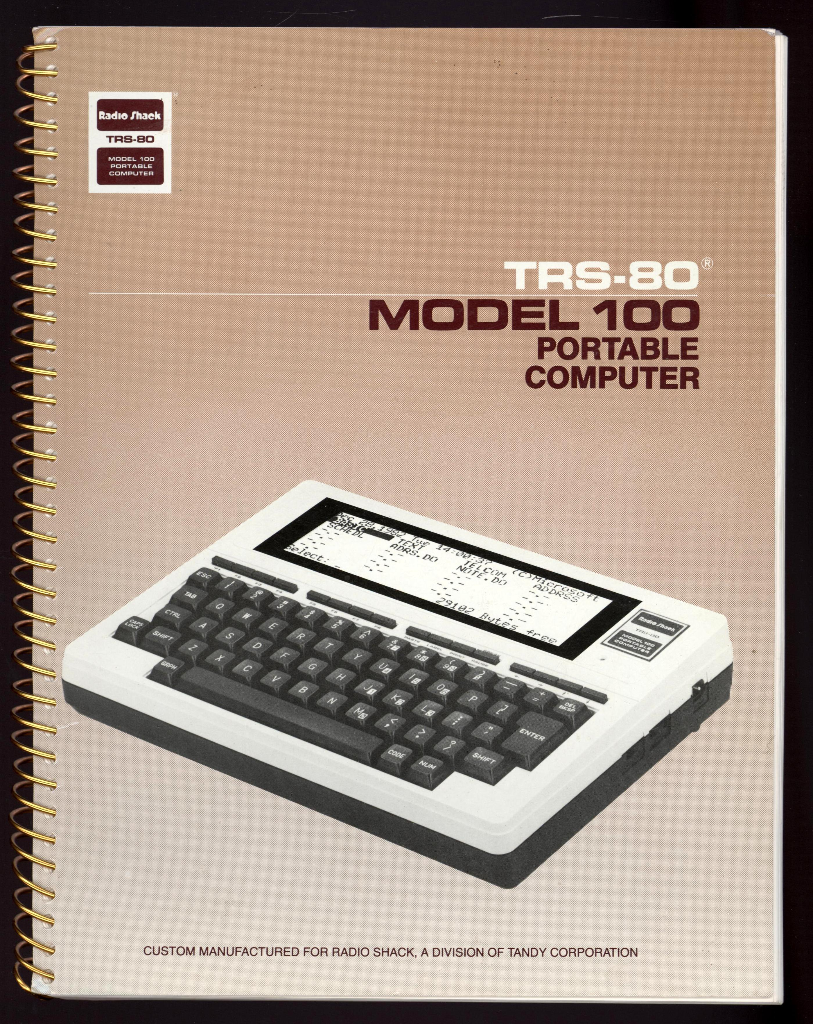 Image for TRS-80 Model 100 Portable Computer (First Edition)