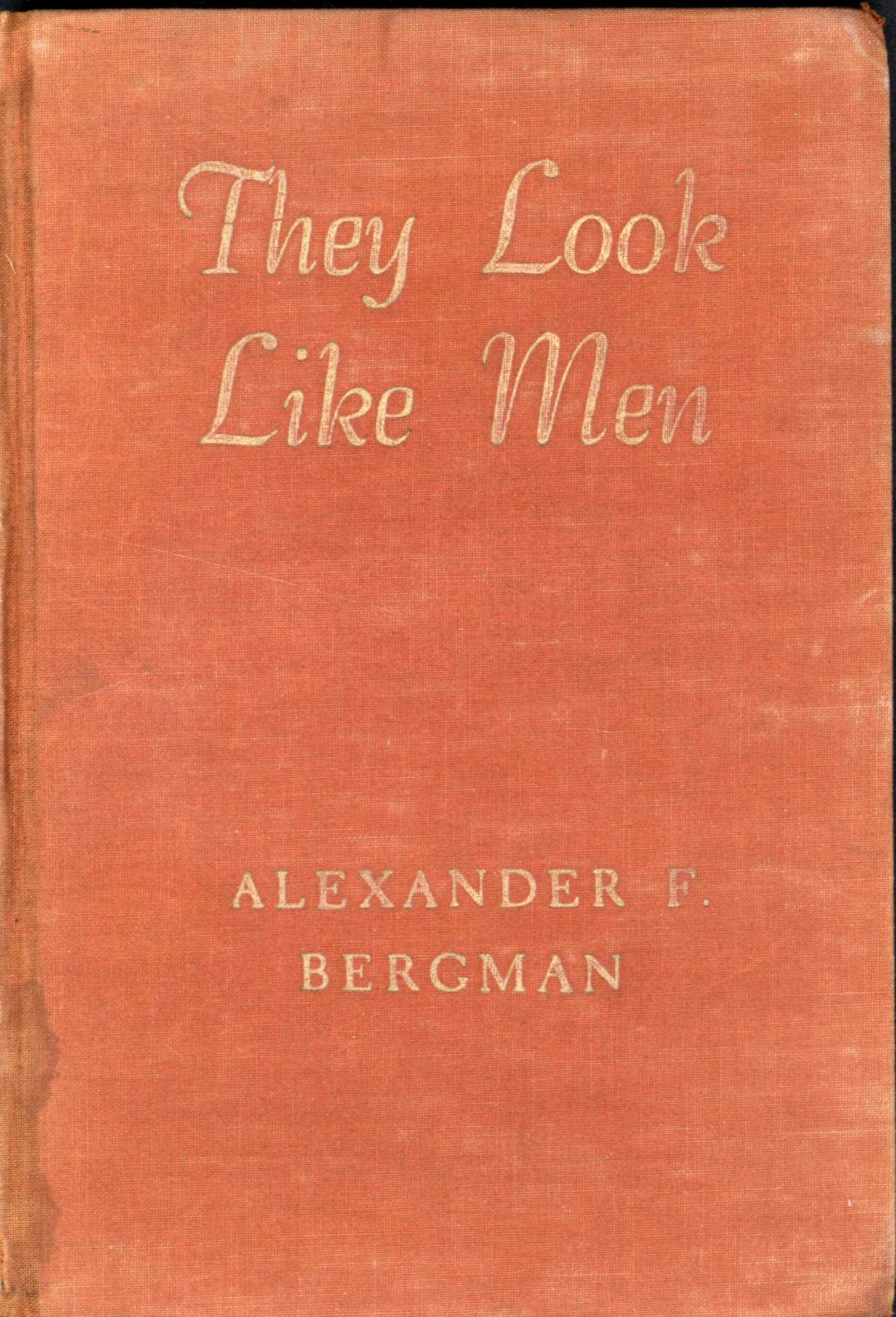 Image for They Look Like Men (Forward by Joy Davidman) (First Edition)