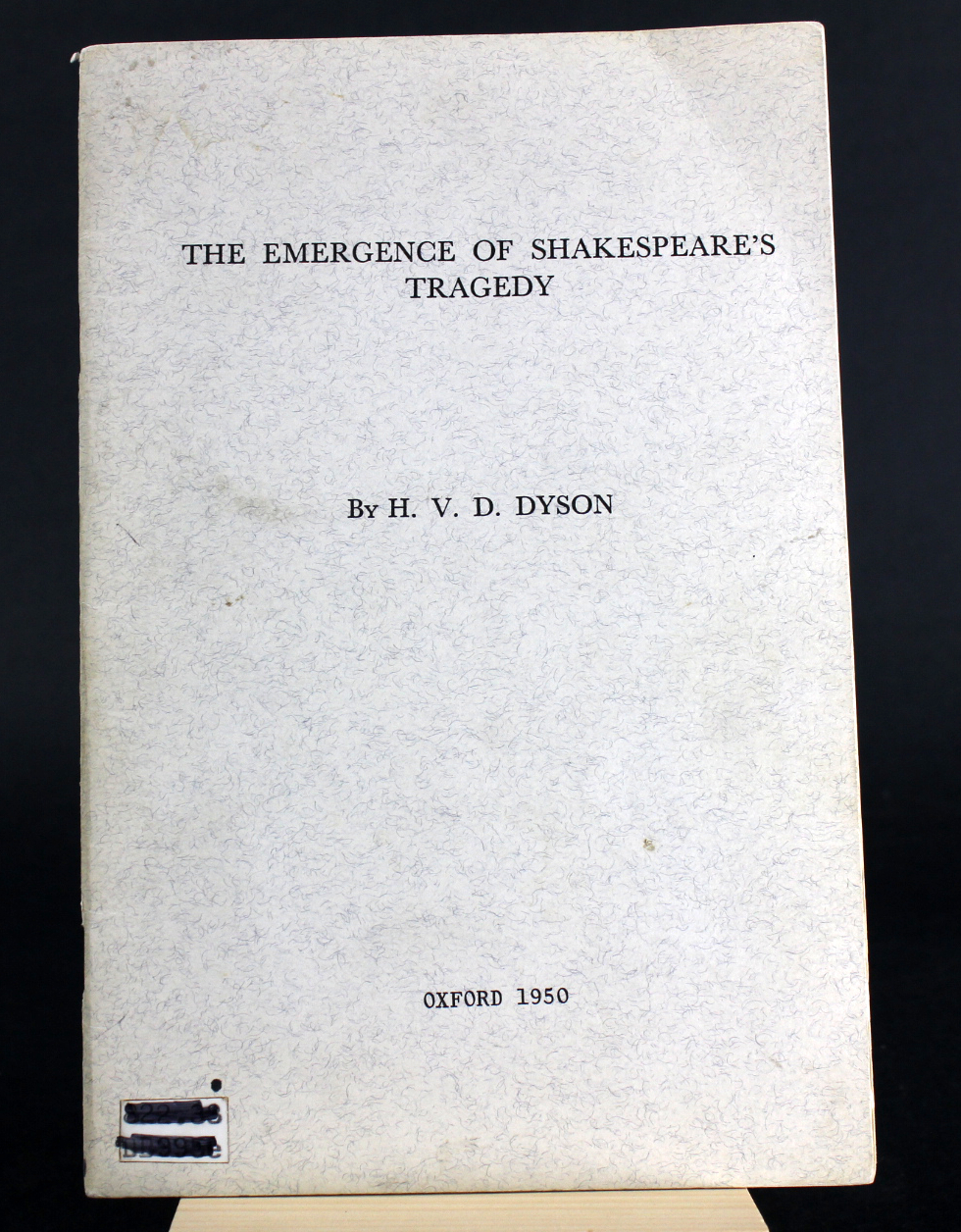 Image for The Emergence of Shakespeare's Tragedy
