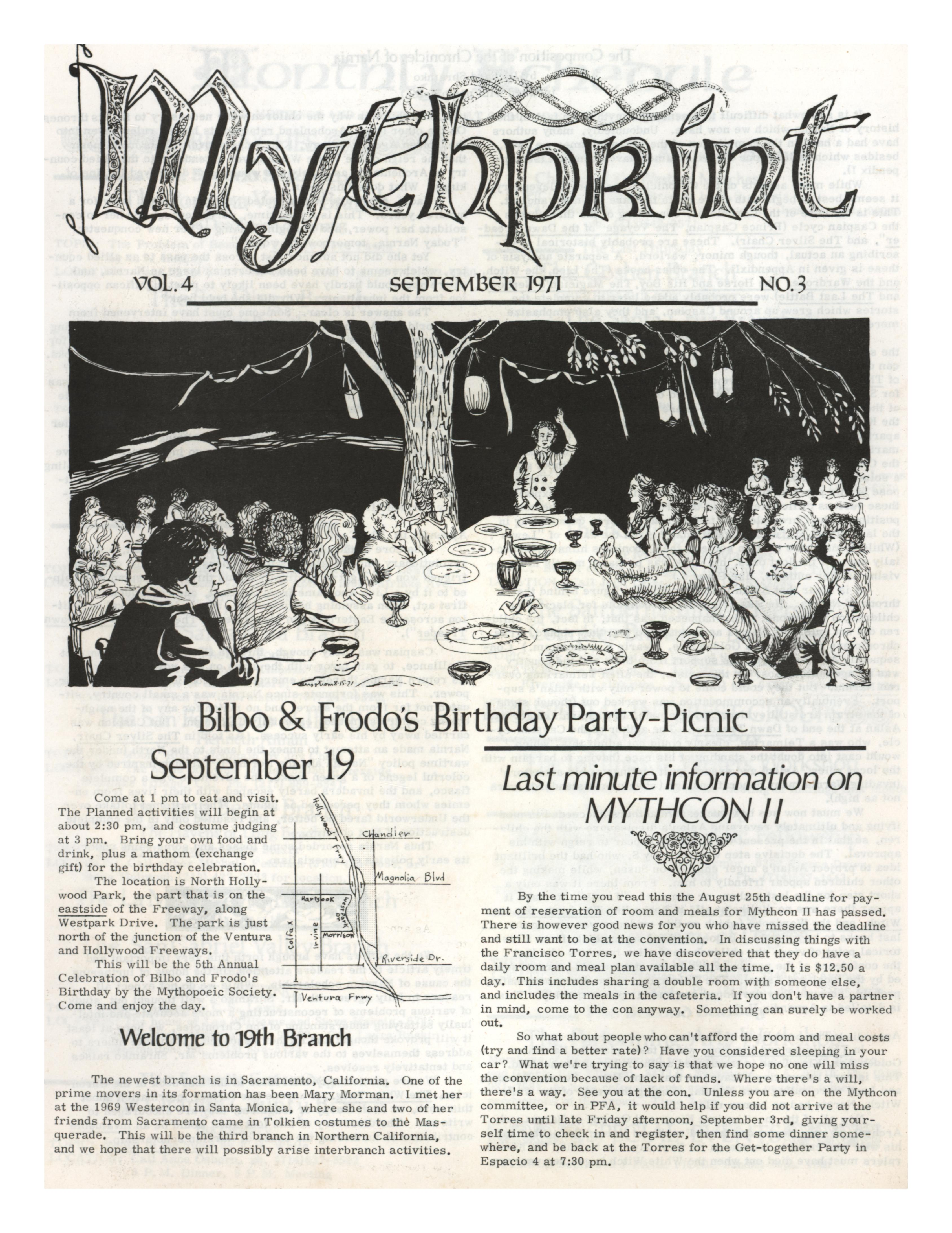 Image for MYTHPRINT [3 ISSUES FROM 1971] First Editions