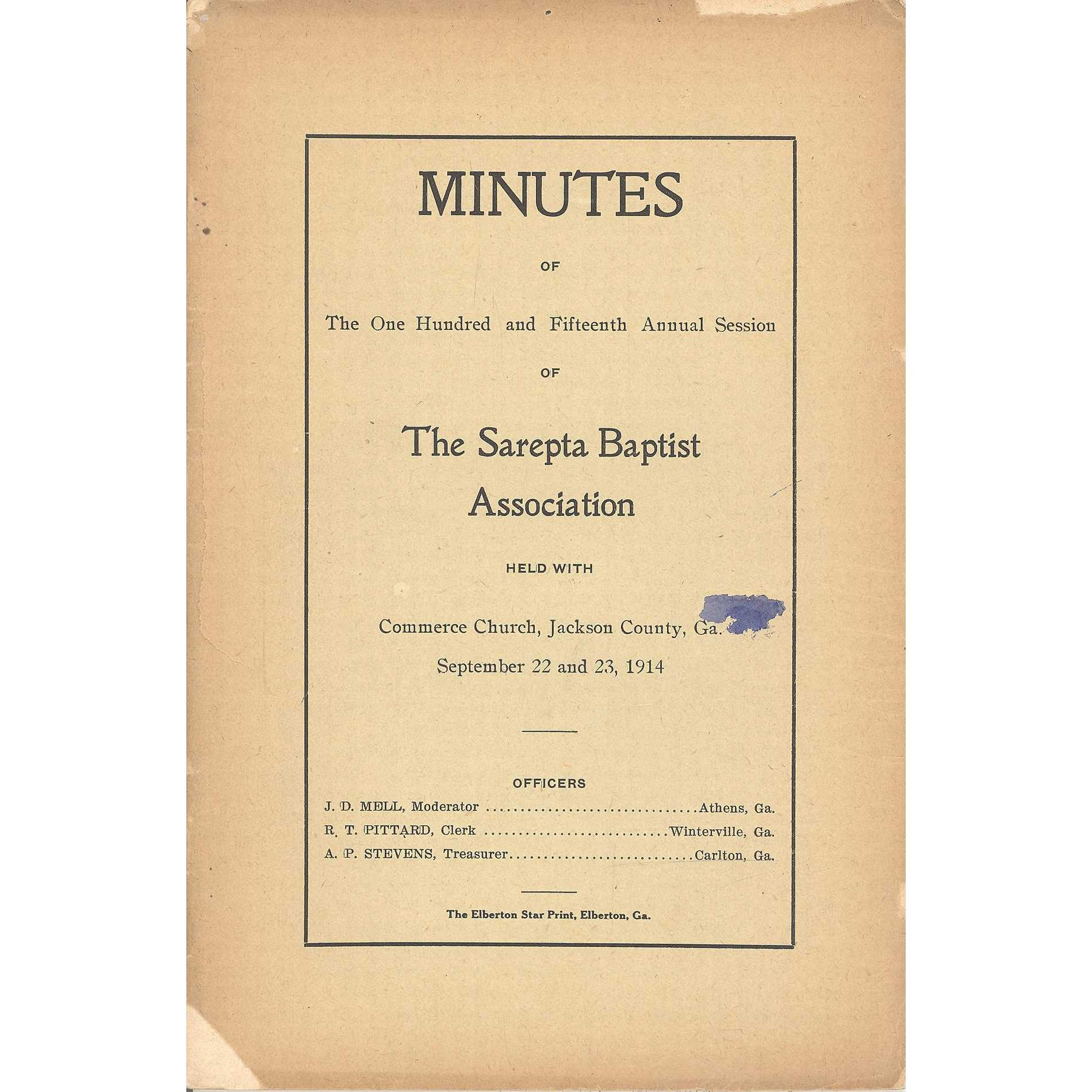 Image for Ashford Baptist Association, Minutes of the Fortieth Anniversary