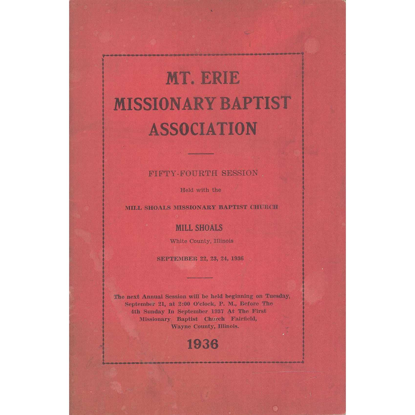 Image for Flint River Baptist Association, Minutes of the Eighty-Ninth Annual Session