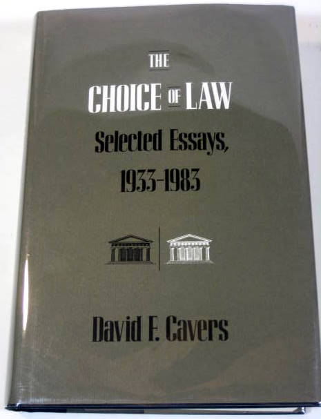 Image for The Choice of Law: Selected Essays, 1933-1983
