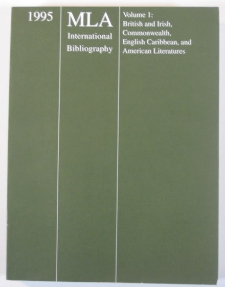 Image for 1995 MLA International Bibliography Volume 1: British and Irish, Commonwealth, English Caribbean, and American Literatures