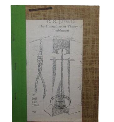 Image for The Humanitarian Theory of Punishment (First Printing as Pamphlet)