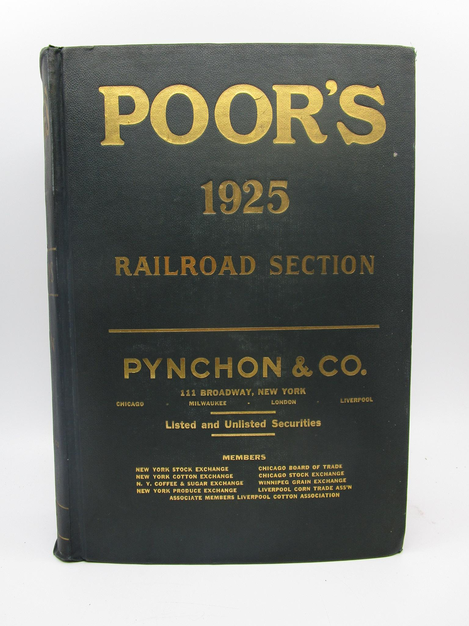 Image for Poor's 1925 Railroad Section