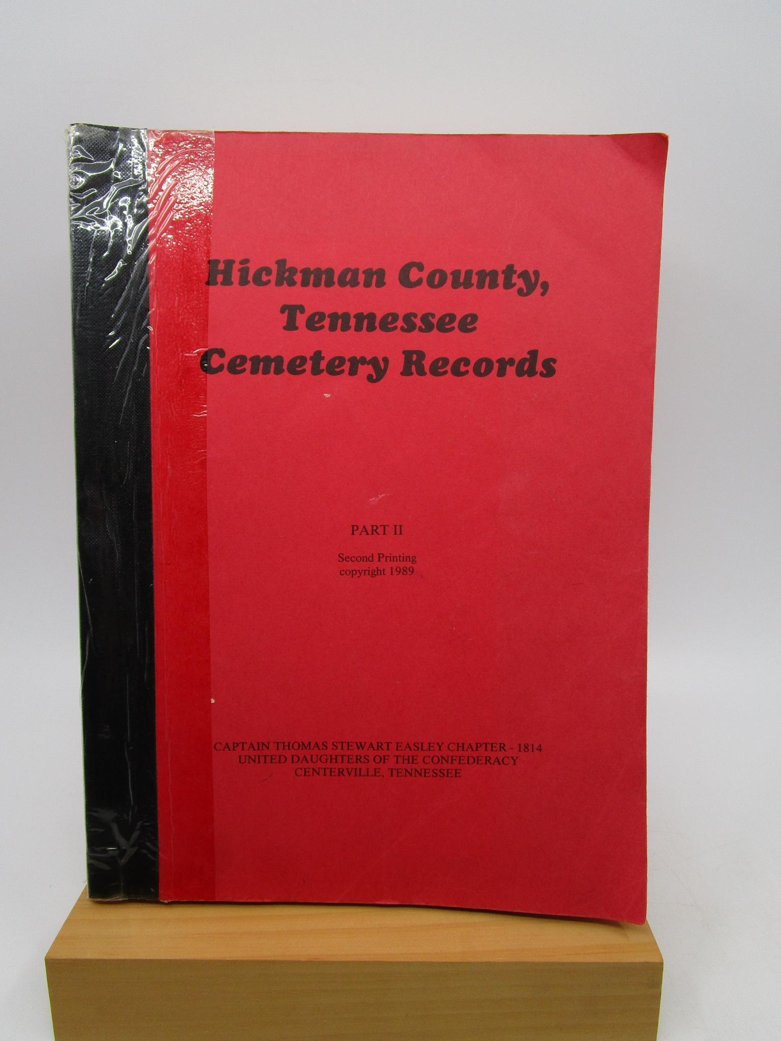 Image for Hickman County, Tennessee - Cemetery Records (Part II)